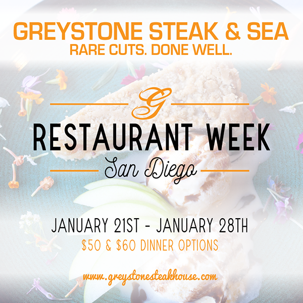San Diego Restaurant Week January 21st – January 28th