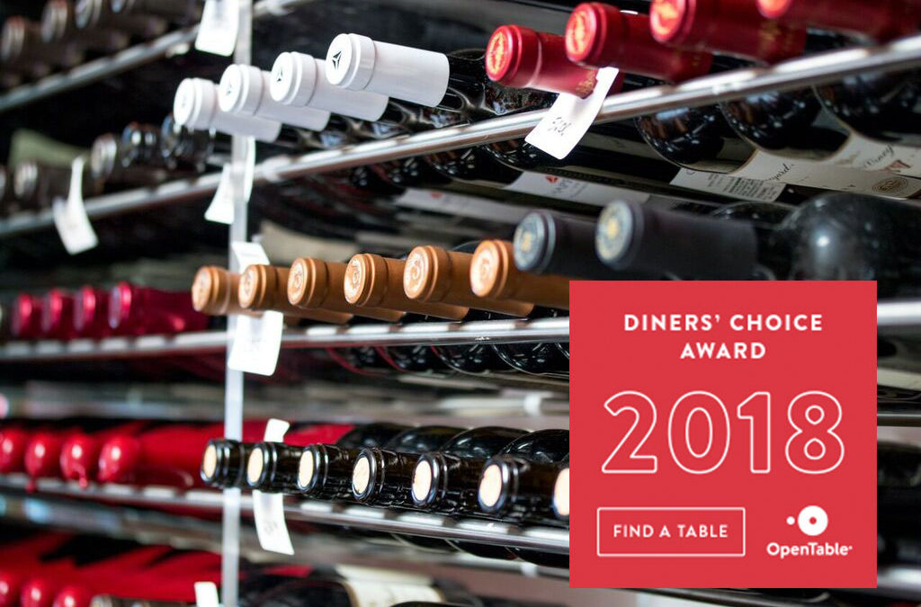 Greystone is awarded the Notable Wine List award from OpenTable!
