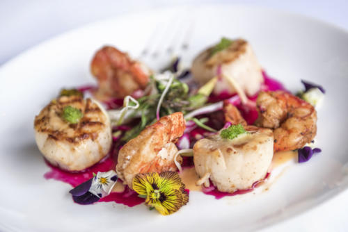 Scallops and Shrimp Dish